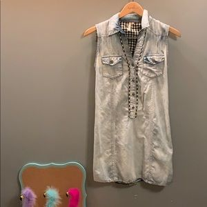 Cute acid washed dress/tunic